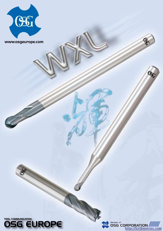 Hãng sản xuất : OSG   Xuất xứ : Japan   Ứng dụng : Gia công thép độ cứng ~55HRc   Thiết kế : Dao phay cầu hợp kim