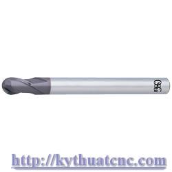 Hãng sản xuất : OSG   Xuất xứ : Japan   Ứng dụng : Gia công thép độ cứng ~65HRc   Thiết kế : Dao phay cầu hợp kim