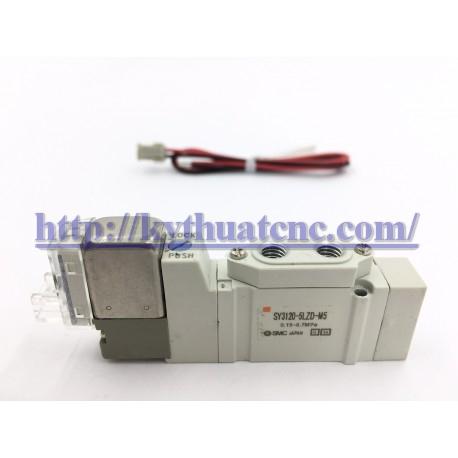 Hãng sản xuất : SMCXuất xứ : JapanĐiện áp : 24VDCThiết kế : Van solenoid 5/2 - 1 coil - 24V - M5